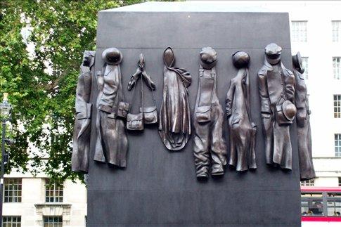 Women in War memorial in Whitehall