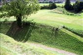View of defensive ditch from the palace mound: by ronsan, Views[186]