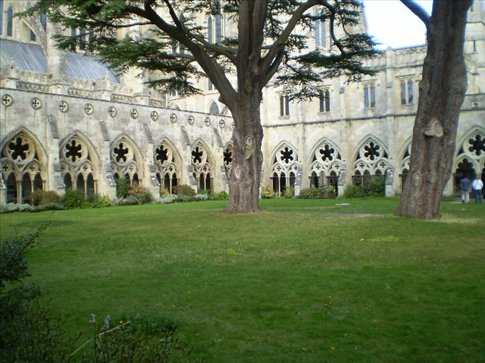 Salisbury cathedral cloisters (largest in Britain)