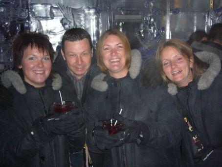 Bernie, Me, Sarah and Deborah in the Minus 5 bar