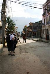 Jen standing in the main street of SaPa: by rosibud, Views[287]