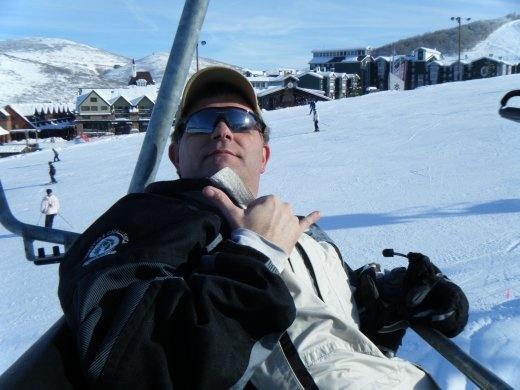 Rowdy on the Ski Lift