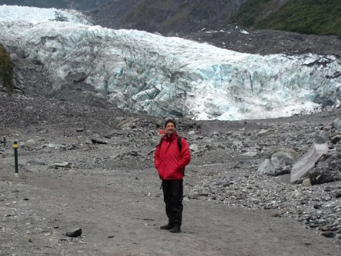 Roy by the Fox glacier