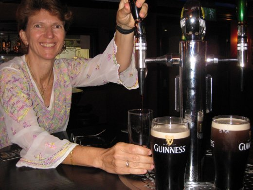 Isn't Ireland great - you can pour your own pint of Guinness!