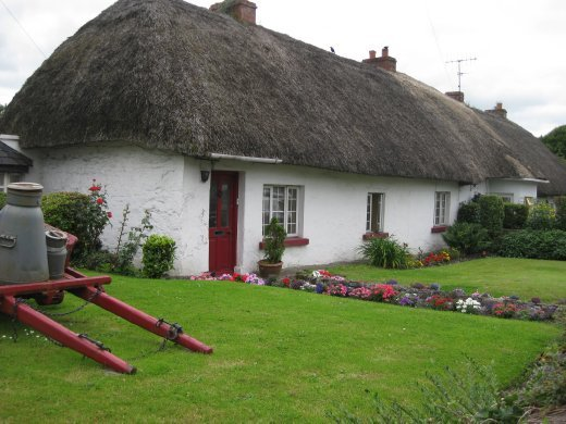 The town of Adare is known for its thatch cottages.