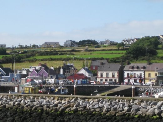 Lots of colorful buildings in Dingle.