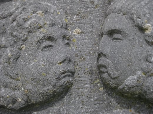 More ancient stone pillars.