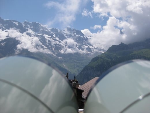 The view of the Eiger was spectacular.