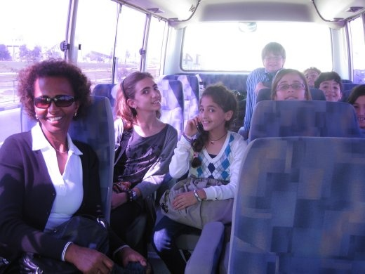 Yeshi and I taking some of the six graders on a school trip to Doha.