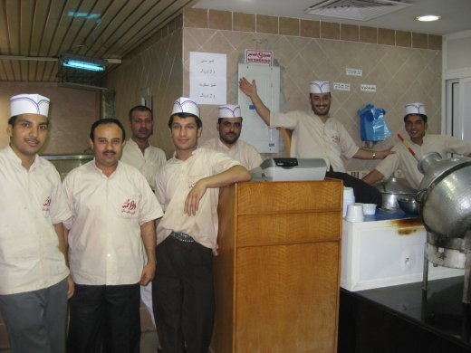 The workers at my favorite foul place for a quick and easy meal.  They love having their pictures taken.