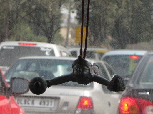 A charm helping us get through the traffic in Delhi.