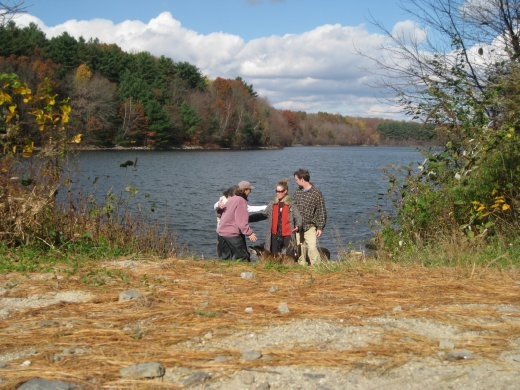 Friends and I enjoying a perfect fall walk in CT.
