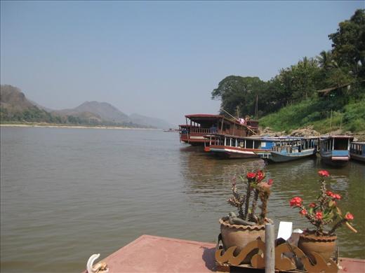 Ferry across the Mekong River.