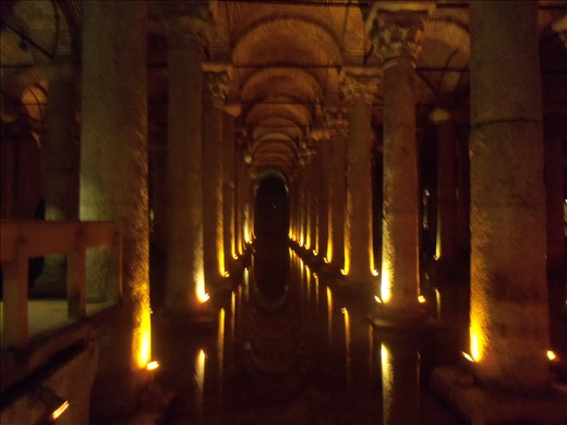 An unbelievable sight right below the streets of the Blue Mosque.  This is in the cistern.