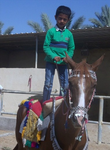 Rider in training.