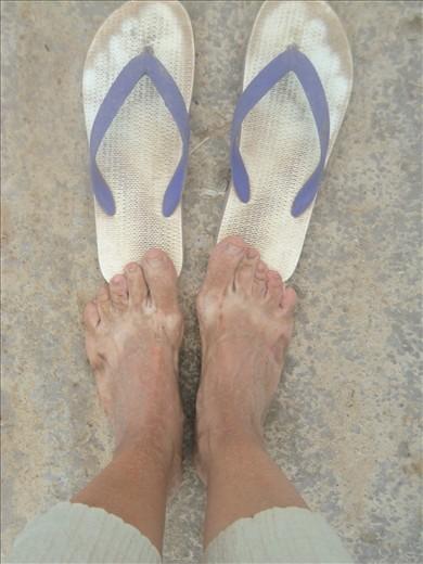 Dusty feet.
