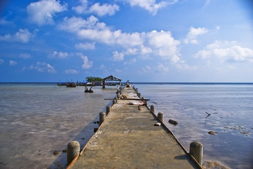 The dock to see the beauty of Biawak Island. Look at the sky! Beautiful, right?!!