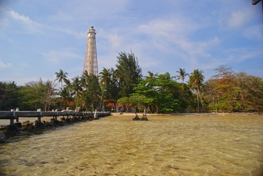 Here's a view when you arrived at Biawak Island