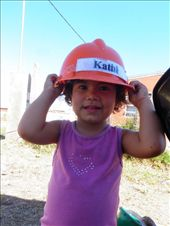 Little Macarena, the daughter of the family whose house I was helping to build, along with 16 other volunteers, as part of a Habitat for Humanity brigade: by runawayvolunteer, Views[490]