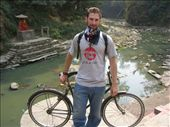 Me and my bike (a bad-ass single gear) beside the Bagmati.: by rustyballs, Views[239]