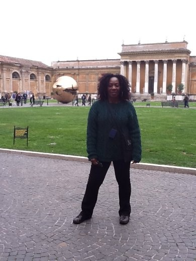 Me on the grounds inside the Vatican Museum