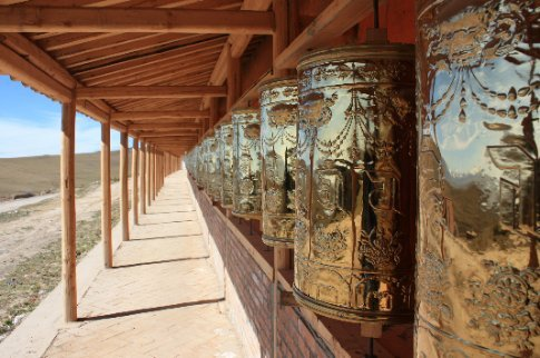 Prayer Wheels of Ganjia Grasslands