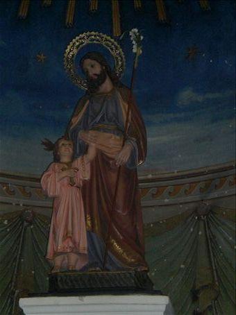 inside the church in Maracaibo...