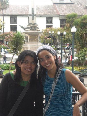 Mercedes and Daniela in Quito
