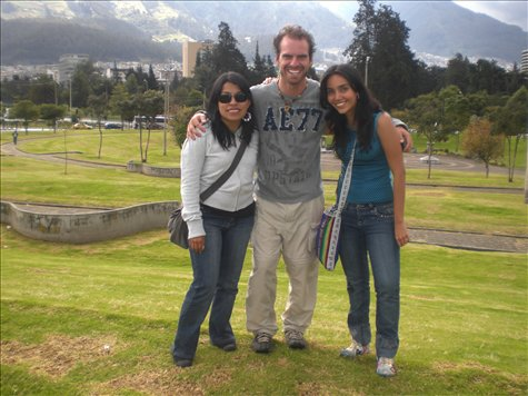 Mercedes, Daniela, and I in Quito
