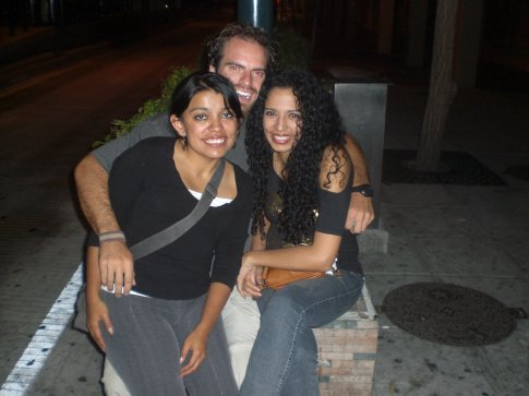 Guayaquil, Ecuador...Mercedes came to visit us all in Guayaquil from Quito...my two awesome hosts in Quito and Guayaquil (Mercedes & Kayhda)