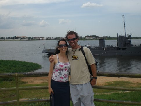 Asuncion, Paraguay...with some military ship in the background