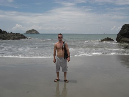 Beach at Manuel Antonio...beautiful...the water is like bath tub water it is so warm right now...