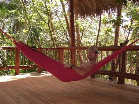 on the hammock at Hotel Condor Lodge in Guanacaste...