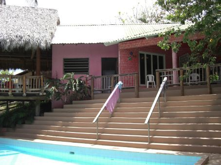 our hotel lodge in Guanacaste...had a pool outside our patio, and ten beds in there