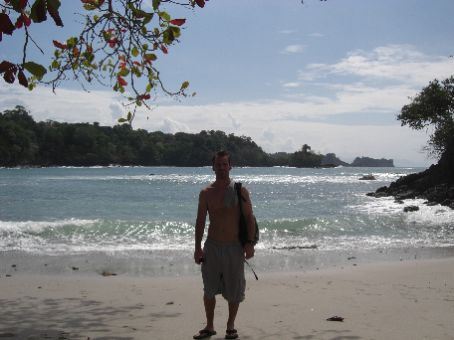 private beach at Manuel Antonio...