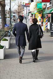 A guy and his mother strolling casually on a street in Osaka: by ryantandya, Views[193]