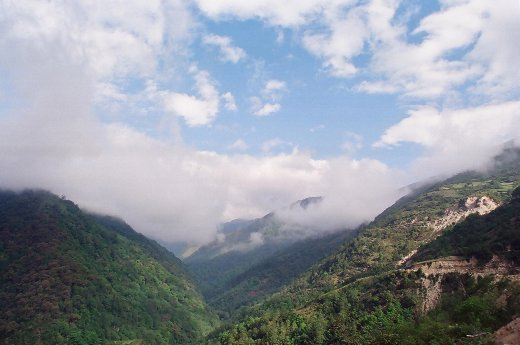 View from Senge of the valley below