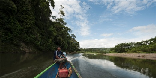 On the way to the Bribri community in Talamanca, up the Yorkin river, with Panama on one side and Costa Rica on the other. The two hour journey was upstream, and beautiful!