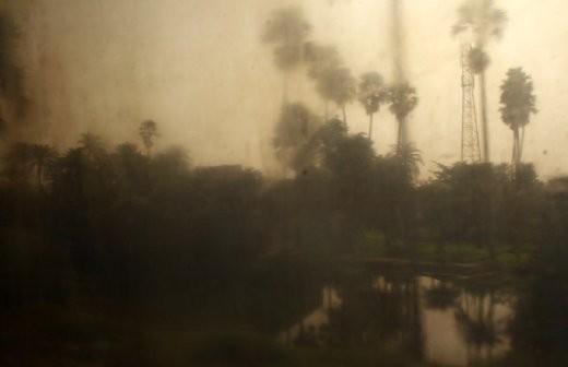 View through the train window - Kolkata to Varanasi