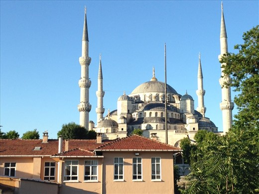 The stunning Blue Mosque, only mosque with 6 minarets. The city has 3,000 mosques. We probably mon't make it to all of them:)