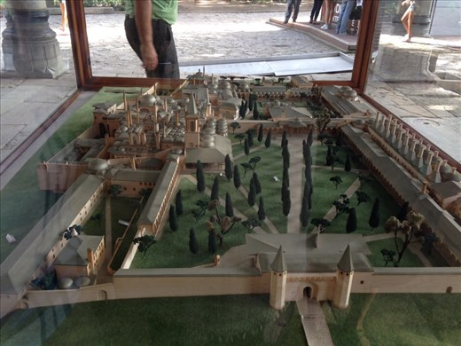 The model of Topkapi Palace, home to the Ottoman empire for over 600 years. Used to be 185 acres, now  only 90 acres.