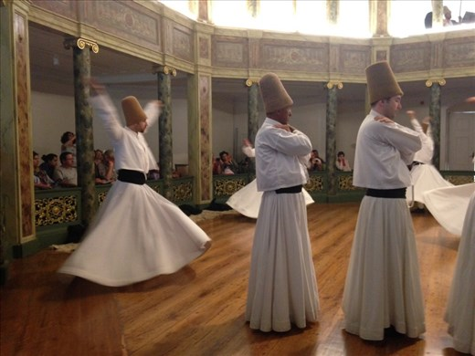 We were privileged to watch the ceremony in a mosque on the grounds of the whirling dervish museum. These are not for tourist, but the real deal. The Sema is very somber, very moving when they put themselves into a meditative trance and start to whirl.