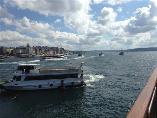 We took an all day boat ride on the mighty Bosphorus. Went all the way to the Black Sea and Asia.
