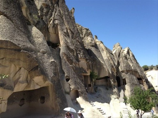 Ancient caves with frescoes of saints inside. 2nd - 3rd century.