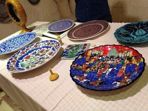 Hand painted each piece. Some are 3 dimensional. Beautiful, right?