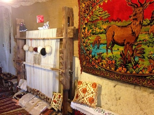 The cave home of a local shop owner. His wife graciously welcomed us to view their home.