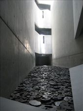 An amazing installation (Shalechet - Fallen leaves) inside the Jewish Museum. The artist Menashe Kadishman created faces from iron plates to represent those killed during the holocaust and anyone affected by violence of any kind. He asks that people walk on the art. It is really incredible.: by sair, Views[2230]