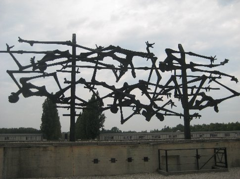 An amazing memorial piece at Dachau in Munich. Dachau was the first concentration camp built by the Nazi's. Being there, and standing in the central square where prisoners were made to stand day after day, not knowing if they would live or die was quite overwhelming. I left with the same question I came with - why? why why why why.....