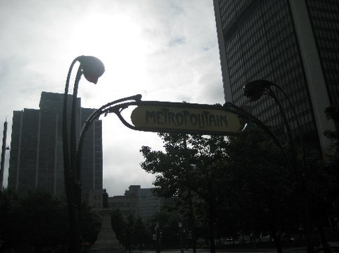 The only Metro sign outside of Paris designed by art nouveau master Hector Grimaud