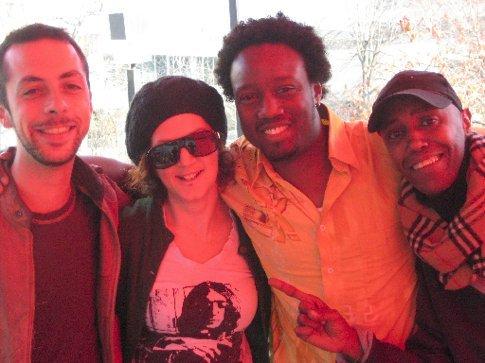 Francois, moi, Greg and Deni